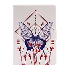 cheap Cases/Covers for iPad Air-Case For Apple iPad 4/3/2 iPad Air 2 iPad Air with Stand Flip Full Body Cases Butterfly Soft PU Leather for iPad 4/3/2 iPad Air iPad Air