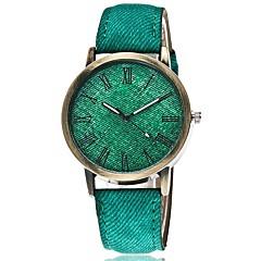 preiswerte Tolle Angebote auf Uhren-Herrn Armbanduhr Cool / Punk Stoff Band Charme / Retro / Süßigkeit Schwarz / Weiß / Blau