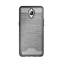 Mert Kártyatartó / Állvánnyal Case Hátlap Case Egyszínű Kemény TPU mert OnePlus One Plus 3