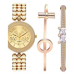 preiswerte Damenuhren-Damen damas Armbanduhr 30 m Wasserdicht Schockresistent Cool Edelstahl Band Analog Retro Freizeit Böhmische Gold - Gold