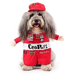 tanie Ubranka i akcesoria dla psów-Koty Psy Kostiumy Ubrania dla psów Zima Wiosna/jesień Litery Urocze Cosplay Czerwony