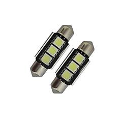 tanie Żarówki LED-60-70 lm Festoon Oświetlenie dekoracyjne 3 Diody lED SMD 5050 Zimna biel DC 12V
