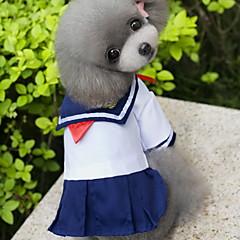 お買い得  猫の服-ネコ 犬 コスチューム ドレス 犬用ウェア セーラー ブルー コットン コスチューム ペット用 女性用 コスプレ ファッション