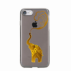 Недорогие Кейсы для iPhone 6-Для Прозрачный / С узором Кейс для Задняя крышка Кейс для Слон Мягкий TPU для AppleiPhone 7 Plus / iPhone 7 / iPhone 6s Plus/6 Plus /