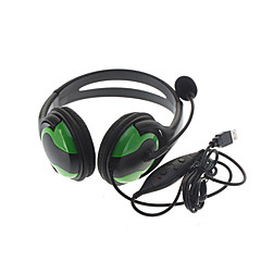 Wired Large Game Headphones with Microphone for PS3 Black & Green