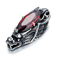 tanie -męska styl punk uroku wisiorek naszyjnik ze stali nierdzewnej 316L retro rzeźba smoka kształt cyrkonii biżuterii