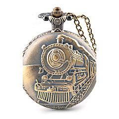Męskie Zegarek kieszonkowy Kwarcowy / Duża tarcza Stop Pasmo Na co dzień Brązowy Brown