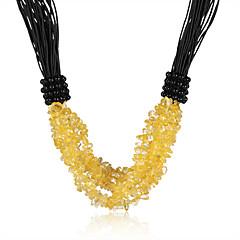 preiswerte Halsketten-Damen Kristall Halsketten - Krystall, Leder Retro, Böhmische, Boho Gelb Modische Halsketten Schmuck Für Party, Alltag, Normal