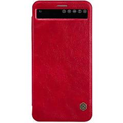 Para Capinha LG Porta-Cartão / com Visor / Hibernação/Ligar Automático / Flip Capinha Corpo Inteiro Capinha Cor Única RígidaCouro