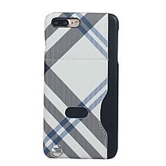 Voor Kaarthouder / Ultradun / Patroon hoesje Achterkantje hoesje Geometrisch patroon Hard Textiel voor AppleiPhone 7 Plus / iPhone 7 /