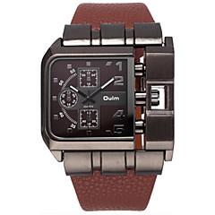preiswerte Tolle Angebote auf Uhren-Oulm Herrn Armbanduhr Armbanduhren für den Alltag / Cool PU Band Luxus / Freizeit Schwarz / Blau / Rot