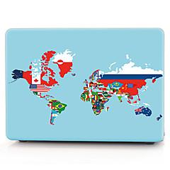 κόσμο σημαία χάρτη περίπτωση macbook μοτίβο υπολογιστή για macbook air11 / 13 pro13 / 15 pro με retina13 / 15 macbook12