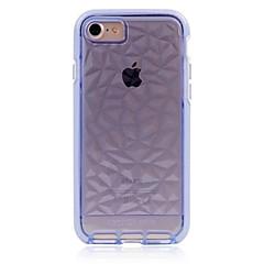 Недорогие Кейсы для iPhone 7 Plus-Кейс для Назначение Apple Кейс для iPhone 5 iPhone 6 iPhone 7 Полупрозрачный Кейс на заднюю панель Сплошной цвет Мягкий ТПУ для iPhone