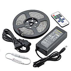 olcso -z®zdm vízálló 5m 72W 300smd 5730 LED csík fény 11key távirányító készlet 6a tápegység ac110-240v