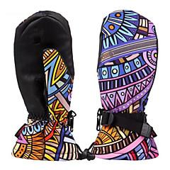 Guantes de esquí Dedos completos Mujer Guantes DeportivosMantiene abrigado Impermeable Resistente al Viento Permeabilidad a la humeda
