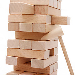 Bausteine Stapelspiele Holz-Bauklötze Tisch-Spiele Stapelturm Spielzeuge Holz Klassisch 54 Stücke Geschenk