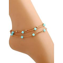 Kadın Ayak bileziği/Bilezikler alaşım Moda kostüm takısı Mücevher Uyumluluk Günlük