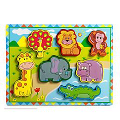 Bildungsspielsachen Holzpuzzle Spielzeuge Elefant Bulle Pferd Neuheit Jungen Mädchen 8 Stücke