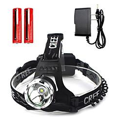 Czołówki Reflektor LED other lm 1 Tryb Cree T6 Akumulator Wodoodporne Nagły wypadek Superlekkie na Obóz/wycieczka/alpinizm jaskiniowy Do