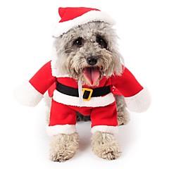 お買い得  猫の服-ネコ / 犬 コスチューム / ジャンプスーツ / クリスマス 犬用ウェア カートゥン レッド フリース コスチューム ペット用 男性用 / 女性用 コスプレ / クリスマス