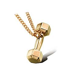 Недорогие Ожерелья-панк-стиль кулон ожерелье шарма нержавеющей стали 316l ретро форма гантелей спорт бокс ювелирных изделий