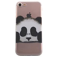 Недорогие Кейсы для iPhone X-Кейс для Назначение Apple iPhone X / iPhone 8 / iPhone 7 Прозрачный / С узором Кейс на заднюю панель Животное / Панда Мягкий ТПУ для iPhone X / iPhone 8 Pluss / iPhone 8