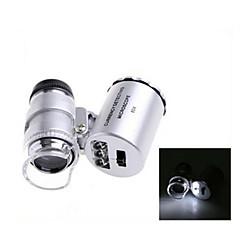 ZW-9882 60X Plastik Mini Optik Cam Lens Büyüteç (3 * LR1130)