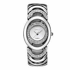 tanie Zegarki damskie-Damskie Kwarcowy Zegarek na nadgarstek Zegarek na bransoletce Szkieletowy Stras / sztuczna Diament Stop Pasmo Urok Błyszczące Vintage Na