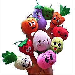 cheap Puppets-Finger Puppets Stuffed Animal Plush Toy Vegetables Fruit Novelty Plush Girls' Gift