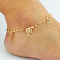 Dames Enkelring /Armbanden Legering Basisontwerp Dubbele laag Bikini Kostuum juwelen Bloemvorm Bladvorm Dierenvorm Vlinder roze Sieraden