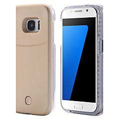 billige Galaxy S6 Etuier-For Samsung Galaxy S7 Edge Etuier LED Bagcover Etui Helfarve Hårdt PC for Samsung S7 edge S7 S6 edge plus S6 edge S6
