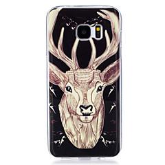 billige Galaxy S6 Etuier-Til Etuier Lyser i mørket IMD Mønster Bagcover Etui Dyr Blødt TPU for Samsung Galaxy S7 edge S7 S6 edge S6 S5