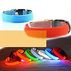 お買い得  犬用首輪/リード/ハーネス-犬 カラー LEDライト 調整可能 / 引き込み式 ナイロン イエロー レッド グリーン ブルー ピンク