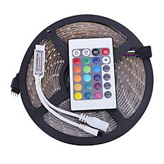 お買い得  LED ストリングライト-5m ライトセット LED 3528 SMD RGB リモートコントロール / カット可能 / 調光可能 12 V / IP65 / 防水 / 接続可 / 車に最適 / ノンテープ・タイプ