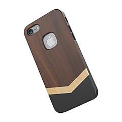 Недорогие Кейсы для iPhone-Для Защита от удара Кейс для Задняя крышка Кейс для Имитация дерева Твердый Дерево для Apple iPhone 7