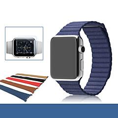 halpa Apple Watch-hihnat-Watch Band varten Apple Watch Series 3 / 2 / 1 Apple Rannehihna Nahkahihna Aito nahka