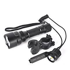 LED-Zaklampen Fietsverlichting LED 5000 Lumens 1 Modus Cree XM-L T6 Ja Antislip-handgreep Klein formaat Super Light Zoombare voor