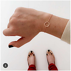 Naisten Ranneketjut Love minimalistisesta pukukorut Metalliseos Circle Shape Korut Käyttötarkoitus Päivittäin Kausaliteetti