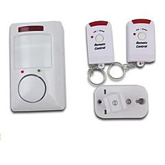 홈 보안에 대한 두 개의 원격 제어와 무선 적외선 모션 감지 경보 시스템
