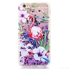 Назначение Кейс для iPhone 7 Кейс для iPhone 7 Plus Кейс для iPhone 6 Чехлы панели Движущаяся жидкость Задняя крышка Кейс для Фламинго