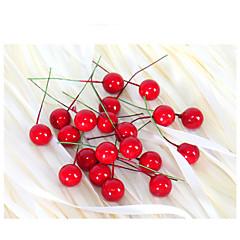 작은 시뮬레이션 석류 과일 열매 인공 꽃 빨간 크리스마스 체리 수술 웨딩 파티 축제 장식 2cm 20PCS