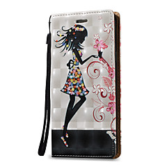 Voor Samsung Galaxy Note 5 Note 4 Case Cover 3D Sexy Beauty Hard PU Leather voor Note 3