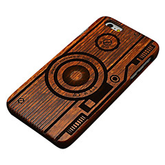 Для Кейс для iPhone 6 Кейс для iPhone 6 Plus Чехлы панели С узором Рельефный Задняя крышка Кейс для Мультипликация Твердый Дерево для