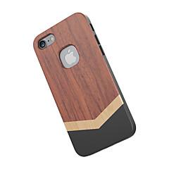 Недорогие Кейсы для iPhone 7-Для Защита от удара Кейс для Задняя крышка Кейс для Имитация дерева Твердый Дерево для Apple iPhone 7
