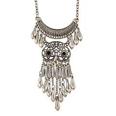 お買い得  ネックレス-女性用 ステートメントネックレス  -  銀メッキ ベーシック シルバー ネックレス ジュエリー 用途 Halloween