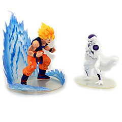 Anime Aksiyon figürleri Esinlenen Dragon Ball Goku Anime Cosplay Aksesuarları şekil Beyaz PVC