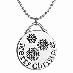 Γυναικεία Κρεμαστά Κολιέ Κράμα Circle Shape Βοημία Style Μοντέρνα Ασημί Κοσμήματα Καθημερινά Χριστουγεννιάτικα δώρα 1pc