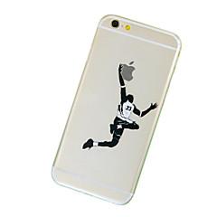 Недорогие Кейсы для iPhone 7 Plus-Кейс для Назначение Apple iPhone 7 / iPhone 7 Plus / iPhone 6 Plus Прозрачный / С узором Кейс на заднюю панель Композиция с логотипом Apple Мягкий ТПУ для iPhone 7 Plus / iPhone 7 / iPhone 6s Plus