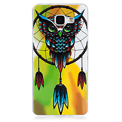 voordelige Galaxy A5 Hoesjes / covers-hoesje Voor Samsung Galaxy A5(2016) A3(2016) Glow in the dark IMD Achterkantje Uil Zacht TPU voor A5(2016) A3(2016)