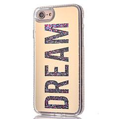 Для Стразы / Движущаяся жидкость Кейс для Задняя крышка Кейс для Слова / выражения Мягкий TPU для AppleiPhone 7 Plus / iPhone 7 / iPhone